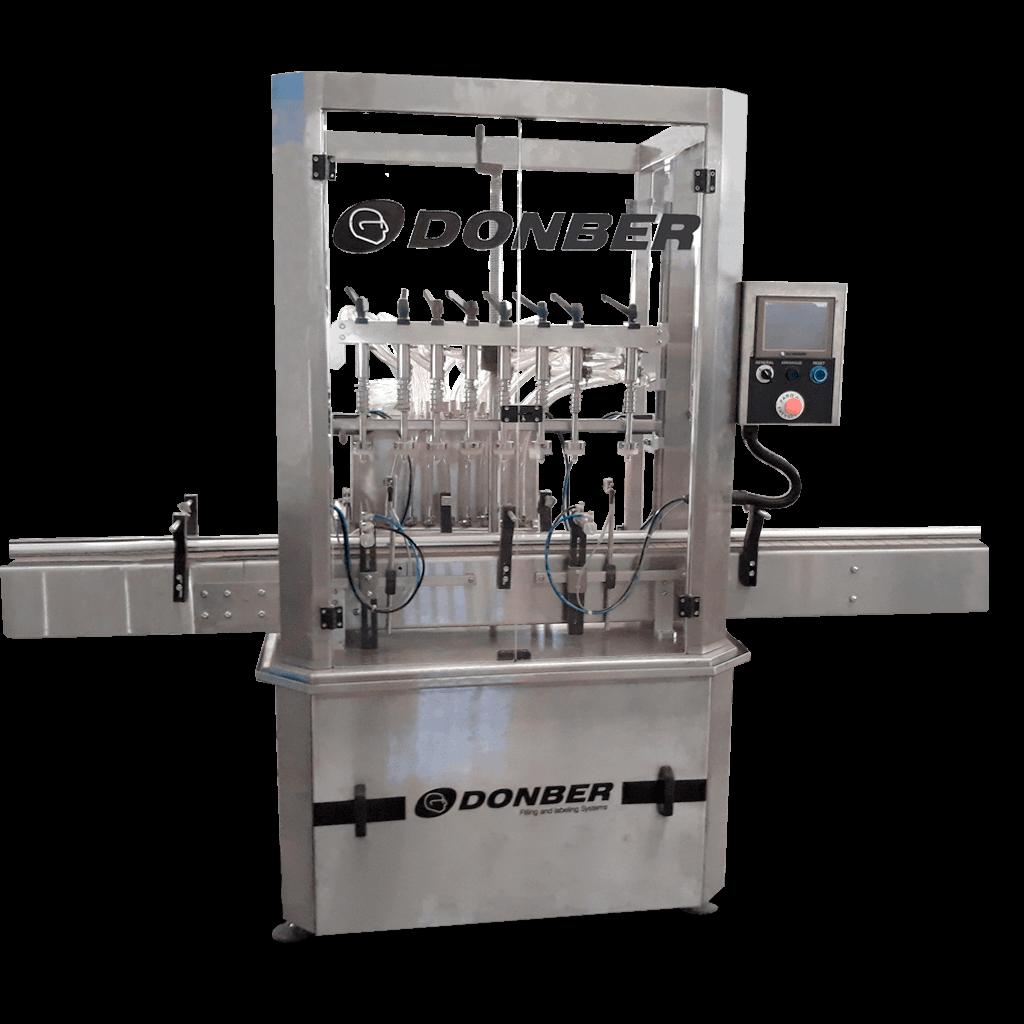 Llenadora para líquidos de 8 boquillas - Modelo Gladiador de Nivel - Marca Donber